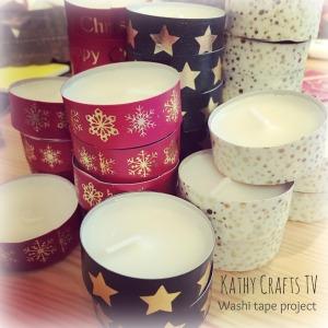 Tea light washi tape makeover