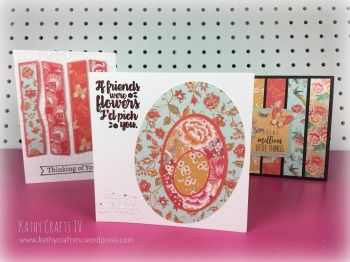 Floral Fusion ovals card