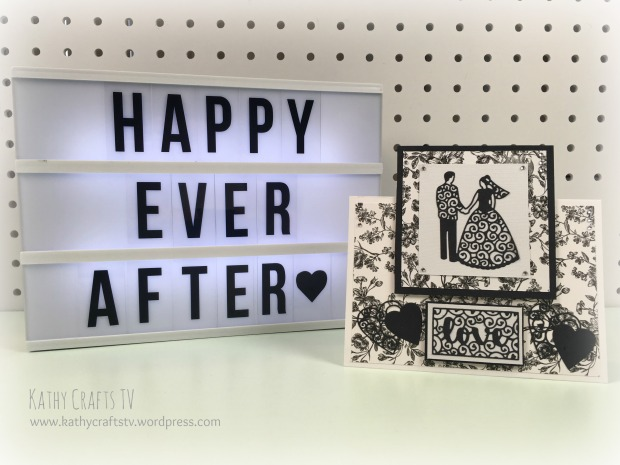 Monochrome wedding card
