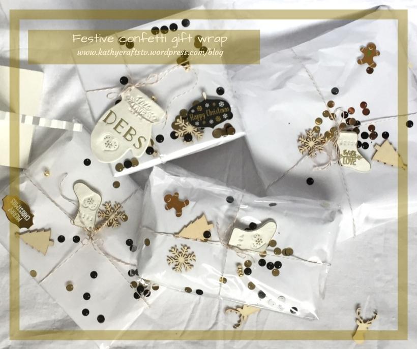 Festive confetti gift wrap -