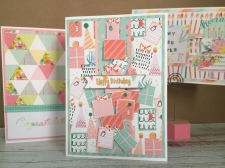 Handmade birthday card using Let's Celebrate First Edition Paper Pad